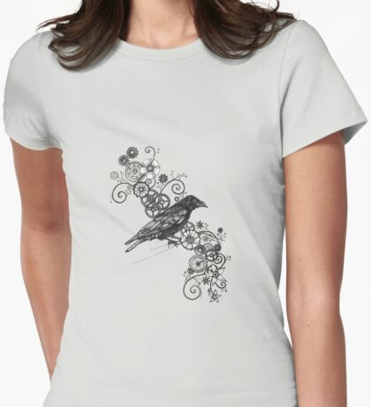 Clockwork Crow Womens Fitted T-Shirt
