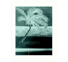 Night Palm Tree Art Print