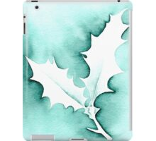 'Holly Leaves' Christmas design - Aquamarkers. iPad Case/Skin