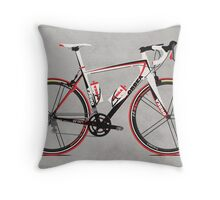 Race Bike Throw Pillow