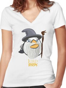 Lord of the Birds-Gandalf Women's Fitted V-Neck T-Shirt