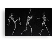 Dancing Skeletons Canvas Print