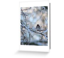 Braving the Snow Greeting Card