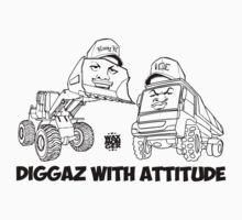 Diggaz With Attitude One Piece - Short Sleeve