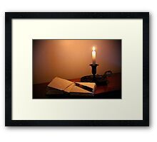 Writing by Candlelight Framed Print
