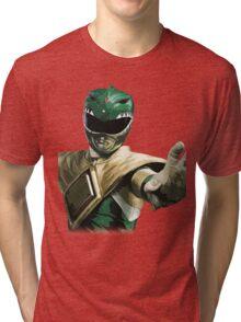 Might Morphin Power Rangers - Green Ranger Tri-blend T-Shirt