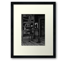 Lenore and The Raven Framed Print