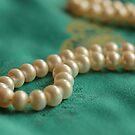 Pearls on Chinese Silk by Lynn Gedeon