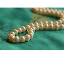 Pearls on Chinese Silk Photographic Print