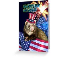 Fourth Of July Ferret Greeting Card