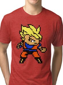 8 Bit Goku Super Saiyan 1 Tri-blend T-Shirt