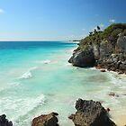 Tulum Ruins Seascape by Roupen  Baker