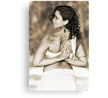 Adriana, Yoga Canvas Print