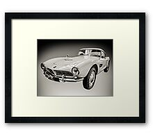 Vintage White BMW 507 Framed Print