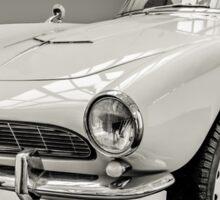 Vintage White BMW 507 Sticker