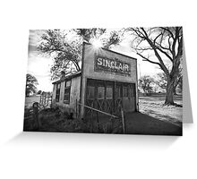 Old Sinclair Station (Black & White) Greeting Card
