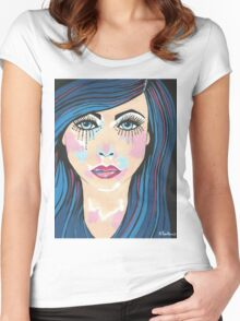 Indigo Women's Fitted Scoop T-Shirt