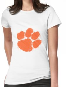 Clemson University Watercolor Design Womens Fitted T-Shirt