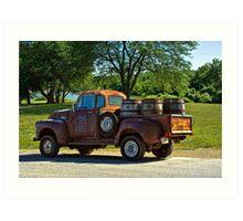 "1954 GMC Jack Daniels Pickup Truck ""Party Time"" Art Print"