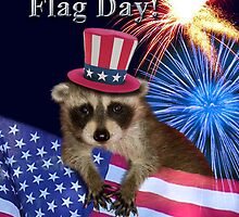 Flag Day Raccoon by jkartlife