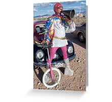 Unicycle Freak Greeting Card