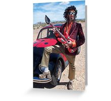 Rock Star Man Greeting Card