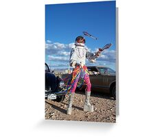 Astro Juggler Greeting Card