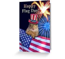 Flag Day Squirrel Greeting Card