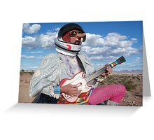 Astro Guitar Hero Greeting Card