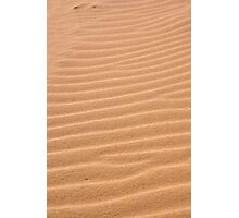 Sand texture ~ Ribs Photographic Print