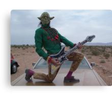 Yoda Air Guitar Hero Canvas Print