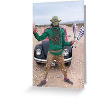 Yoda Peace Juggler Greeting Card