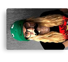 Moustache woman Canvas Print