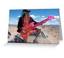 Guitar Hero Star Greeting Card