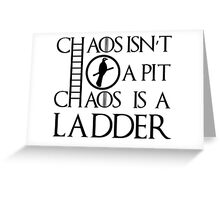 Chaos Ladder Greeting Card
