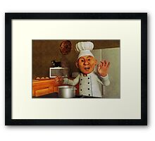 Dad's Kitchen Framed Print