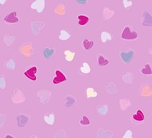 Love, Romance, Hearts - Blue Purple Pink White  by sitnica