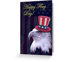 Flag Day Eagle Greeting Card