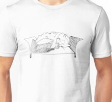 Cat Sleeping on Armchair Unisex T-Shirt