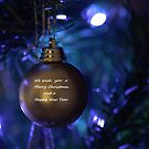 Golden Bauble for Christmas by LooseImages