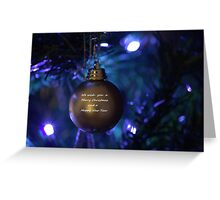 Golden Bauble for Christmas Greeting Card