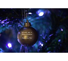 Golden Bauble for Christmas Photographic Print