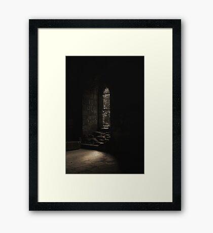 Kirkstall Abbey Chapter house Framed Print