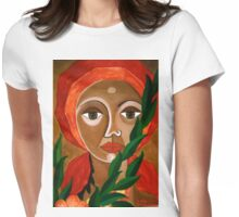 Vegetal woman Womens Fitted T-Shirt