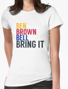 Pittsburgh Steelers - Big Ben Roethlisberger, Antonio Brown, and Le'veon Bell Womens Fitted T-Shirt