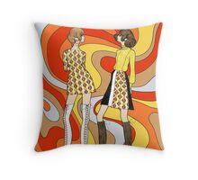 Dreamy Groove Throw Pillow