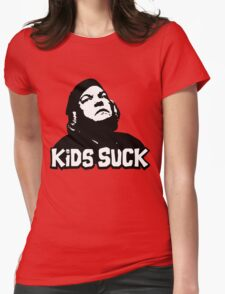 Kids Suck! Womens Fitted T-Shirt