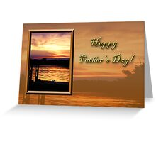 Father's Day Pier Greeting Card