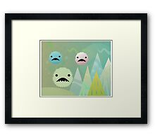 Bad Snowflakes by Aglaia Mortcheva Framed Print