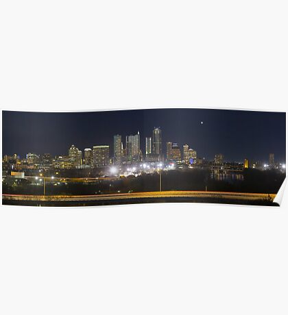 Austin Skyline Sunrise from the Zilker Park Clubhouse 2 Poster